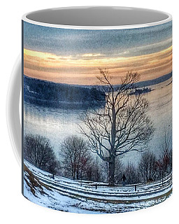 Winter Twilight At Fort Allen Park Coffee Mug