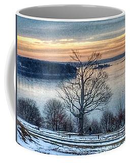 Winter Twilight At Fort Allen Park Coffee Mug