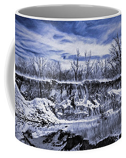 Winter Twin Silos Coffee Mug