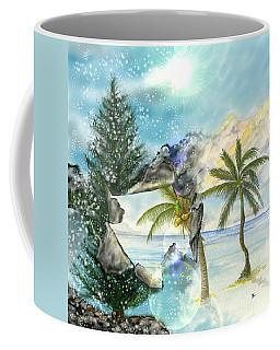 Coffee Mug featuring the digital art Winter Vacation by Darren Cannell
