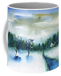 Coffee Mug featuring the painting Winter View by Frank Bright