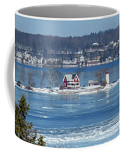 Winter View Of Crossover Island Coffee Mug