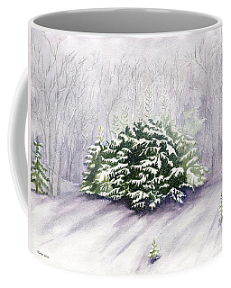 Coffee Mug featuring the painting Winter Wind by Melly Terpening