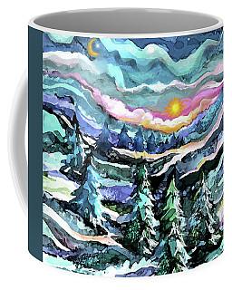 Winter Woods At Dusk Coffee Mug