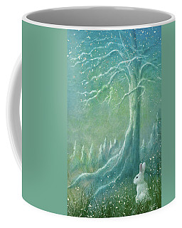 Coffee Mug featuring the digital art Winters Coming by Ann Lauwers