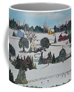 Coffee Mug featuring the painting Winters Last Snow by Virginia Coyle