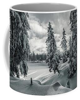 Winter Wonderland Harz In Monochrome Coffee Mug by Andreas Levi