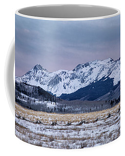 Wintry Mountain After Sunset Coffee Mug