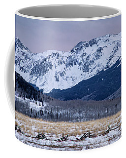 Wintry Mountain After Sunset Coffee Mug