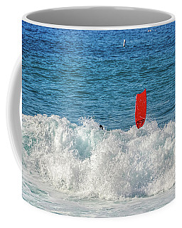 Coffee Mug featuring the photograph Wipe Out by David Lawson