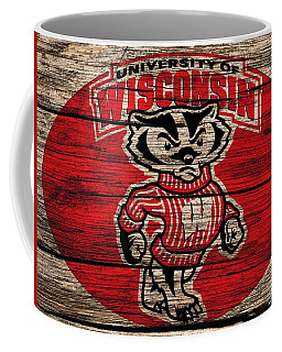 Wisconsin Badgers Barn Door Coffee Mug