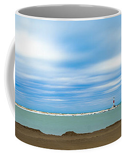 Wisconsin Winter Lakefront Coffee Mug