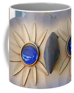 Wise Brilliant Blue Owl Eyes Coffee Mug