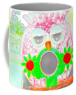 Wise Owl In Watercolor Coffee Mug