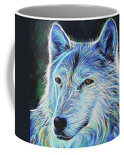 Wise White Wolf Coffee Mug