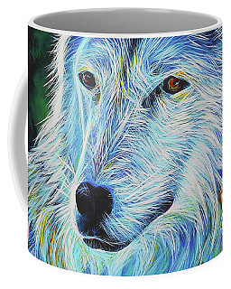 Wise White Wolf Coffee Mug