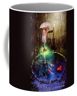 Wishing Well Coffee Mug by Mo T