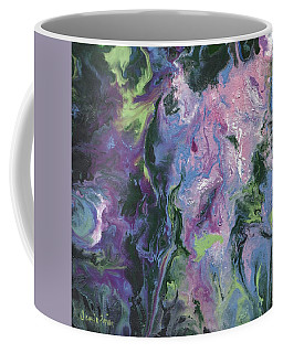 Coffee Mug featuring the painting Wisteria Abstract by Jamie Frier