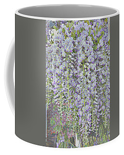 Coffee Mug featuring the photograph Wisteria Before The Hail by Nareeta Martin