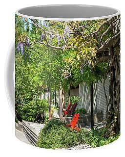 Coffee Mug featuring the photograph Wisteria Shadow. Wisteria Shadow. Botanical Garden Mendelu by Jenny Rainbow