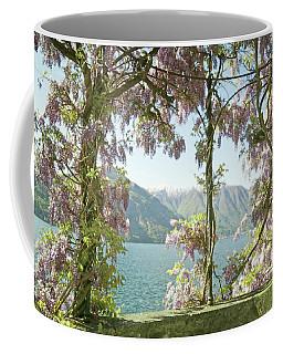 Wisteria Trellis Lago Di Como Coffee Mug