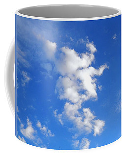 Coffee Mug featuring the photograph Witches Face In The Clouds by Belinda Lee