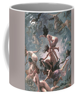 Coffee Mug featuring the painting Witches Going To Their Sabbath by Pg Reproductions