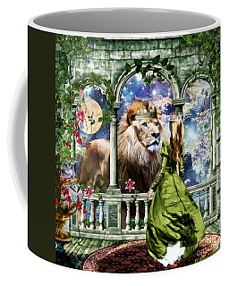 Coffee Mug featuring the digital art With Him I Speak Face To Face by Dolores Develde