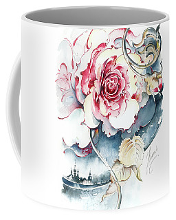 Coffee Mug featuring the painting Without Fear Of The Storm by Anna Ewa Miarczynska