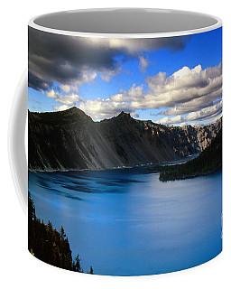 Wizard Island Stormy Sky- Crater Lake Coffee Mug