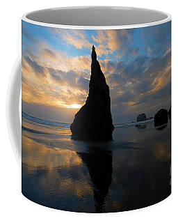 Coffee Mug featuring the photograph Wizards Hat Sunset by Mike Dawson