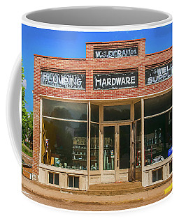 Coffee Mug featuring the photograph Wj Doran Plumbing And Hardware by Trey Foerster