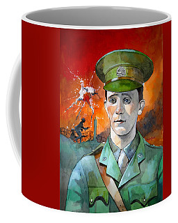 Coffee Mug featuring the painting W.j. Symons Vc by Ray Agius