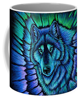 Wolf Aurora Coffee Mug