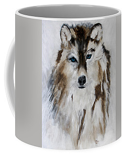 Wolf - Blue Star Coffee Mug