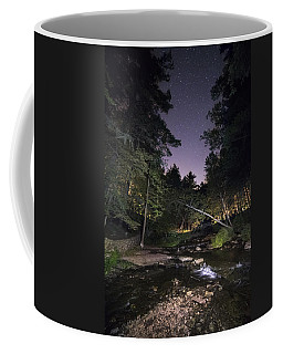 Coffee Mug featuring the photograph Wolf Creek Starry Night by Mark Papke