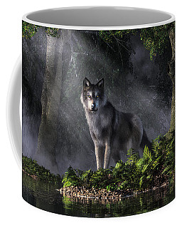 Wolf In The Forest Coffee Mug