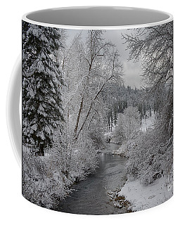 Wolf Lodge Creek Winter Coffee Mug