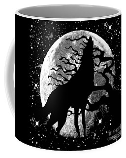 Wolf Moon Stars Coffee Mug