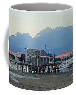 Wollaston Beach Quincy Ma Sunset Boston Skyline Quincy Ma Coffee Mug