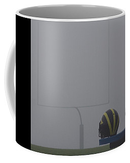 Wolverine Helmet In Heavy Morning Fog Coffee Mug