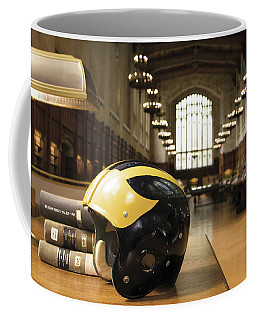 Wolverine Helmet In Law Library Coffee Mug