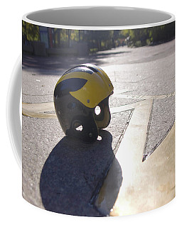 Wolverine Helmet On The Diag Coffee Mug