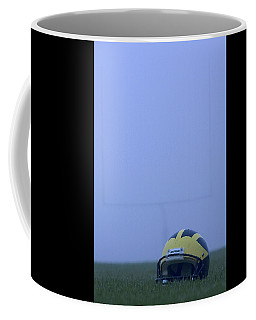 Wolverine Helmet On The Field In Heavy Fog Coffee Mug
