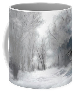 Wolves In The Mist Coffee Mug