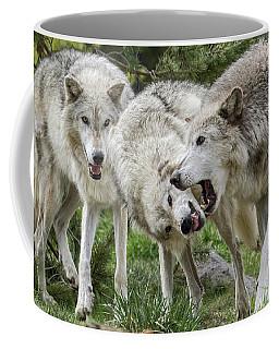 Wolves Playing Coffee Mug