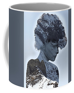 Woman And A Snowy Mountain Coffee Mug