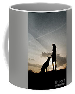 Woman And Dog  Coffee Mug