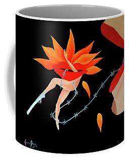 Woman And Establishment Coffee Mug