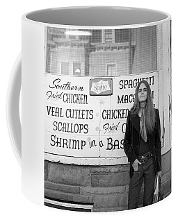 Woman Contemplates Scallops, 1972 Coffee Mug